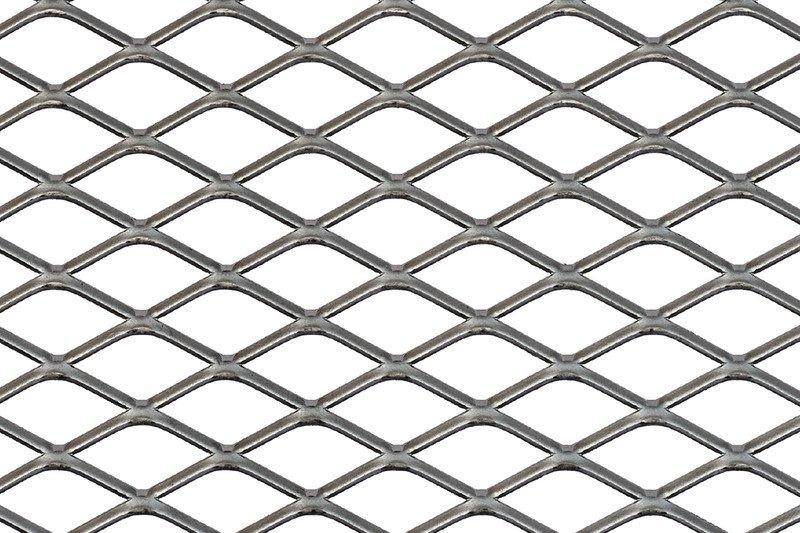 Rhomboidal expanded metal